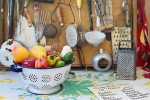 Kitchen utensils nicely arranged