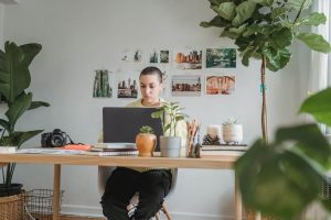 Environmental worker working from home
